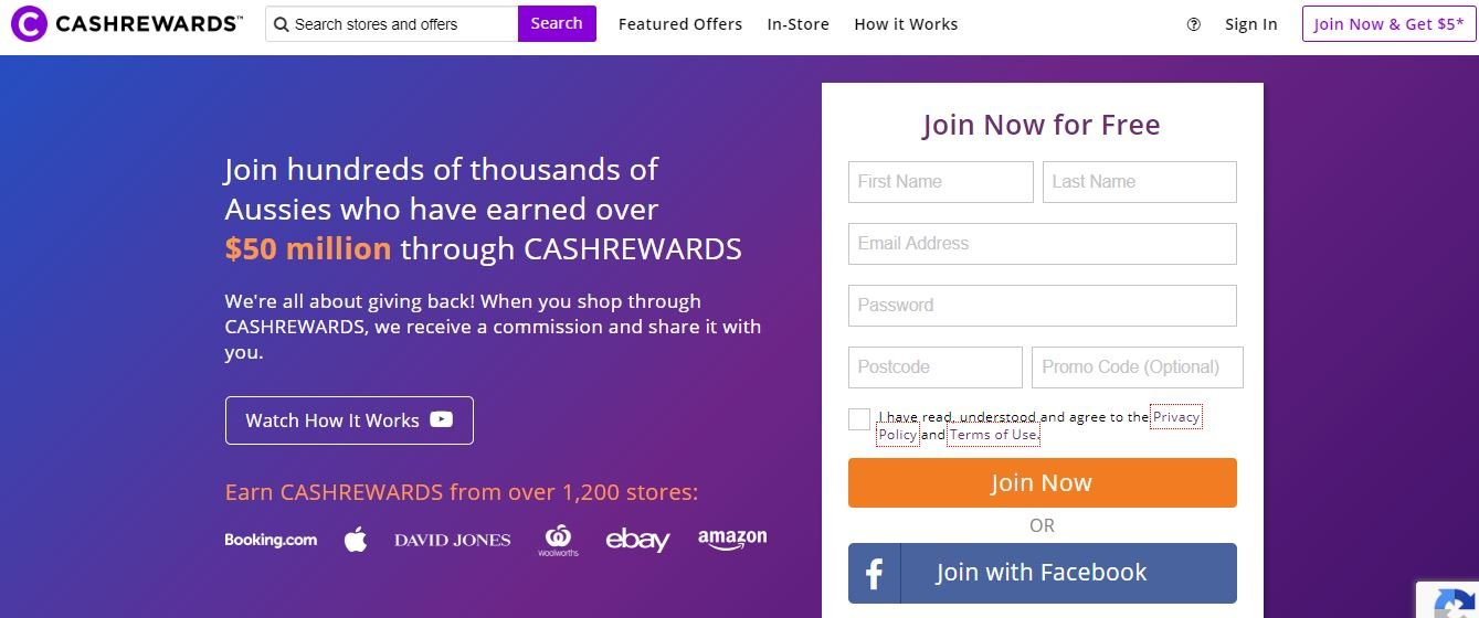 Cashrewards is definitely one of the top cashback sites for Australians.