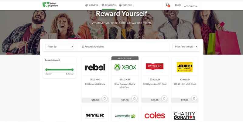 valued opinions australia rewards