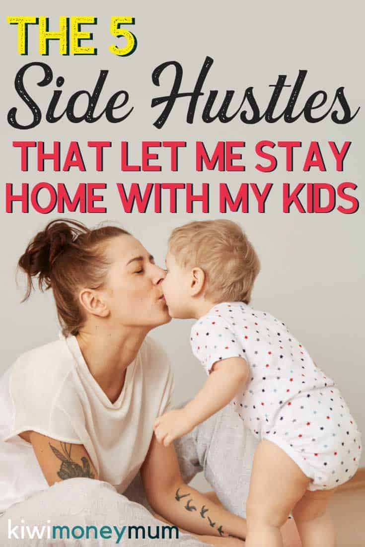 Tips to earn money from home as a mum. This is exactly how I afford to be a stay at home mum. Check out these side hustles for mums and start making extra money from home today.