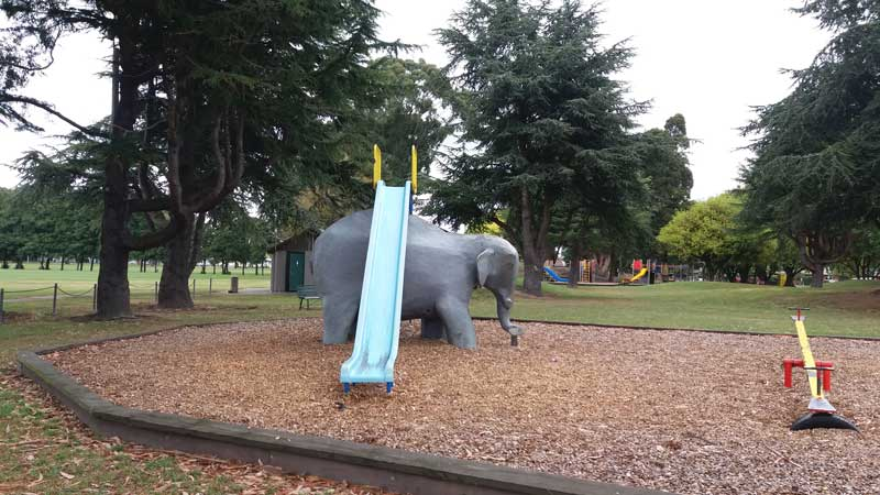 One of our fave Christchurch playgrounds is the Elephant playground at Bishopdale Park.