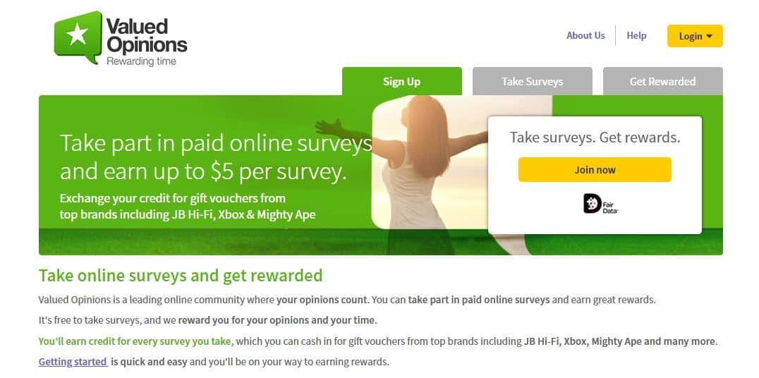 One of the best survey sites for Kiwis. I love Valued Opinions.
