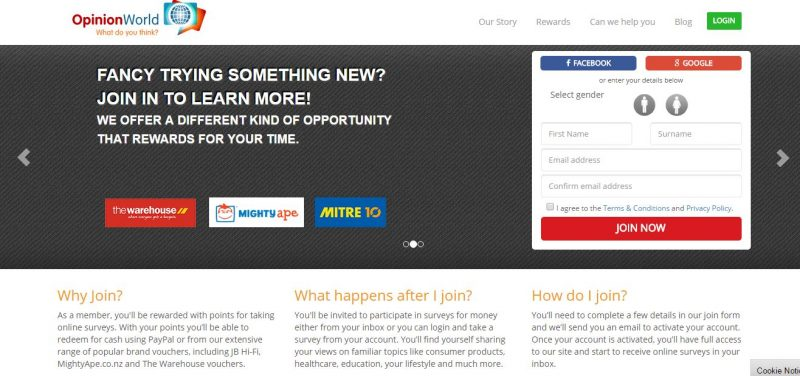 Opinion World NZ is a great survey panel if you want to do online surveys for cash.