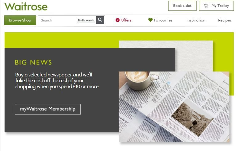mywaitrose and daily mail rewards