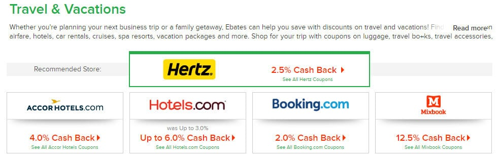 Using cash back sites like Ebates can help you to save up enough money to travel.