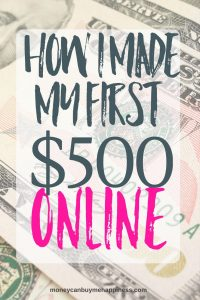 How I Made My First $500 With a Small Blog
