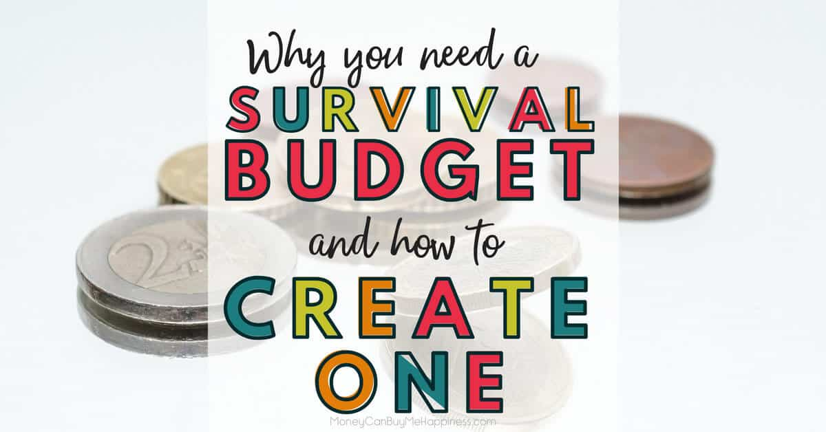 Do you have a survival budget? If not, you'll want to create one, even if times are good. Planning for hard times when everything is going well will help to reduce stress in the future.