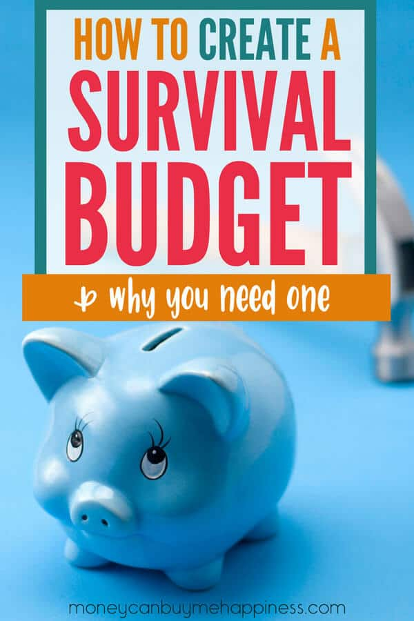 Do you have a survival budget? If not, you'll want to create one, even if times are good. Figuring out your personal survival budget when everything is going well will help to reduce stress in the future. Hopefully, you'll never need it, but if you do - you'll be so glad you took the time.