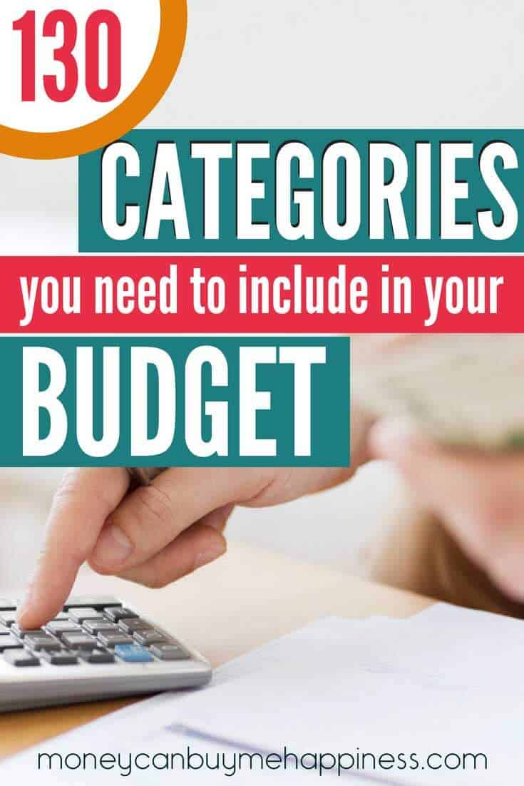 People often go wrong when making a budget by leaving out budget categories that will require money at some point. That can leave other areas short and have you rearranging your finances to make them fit back into your financial plan, or worse, going into debt to cover unexpected expenses. This exhaustive list of budget categories includes everything you might need to cover (and some). Click through to read more. #budgeting #budgetcategories #saving #budget