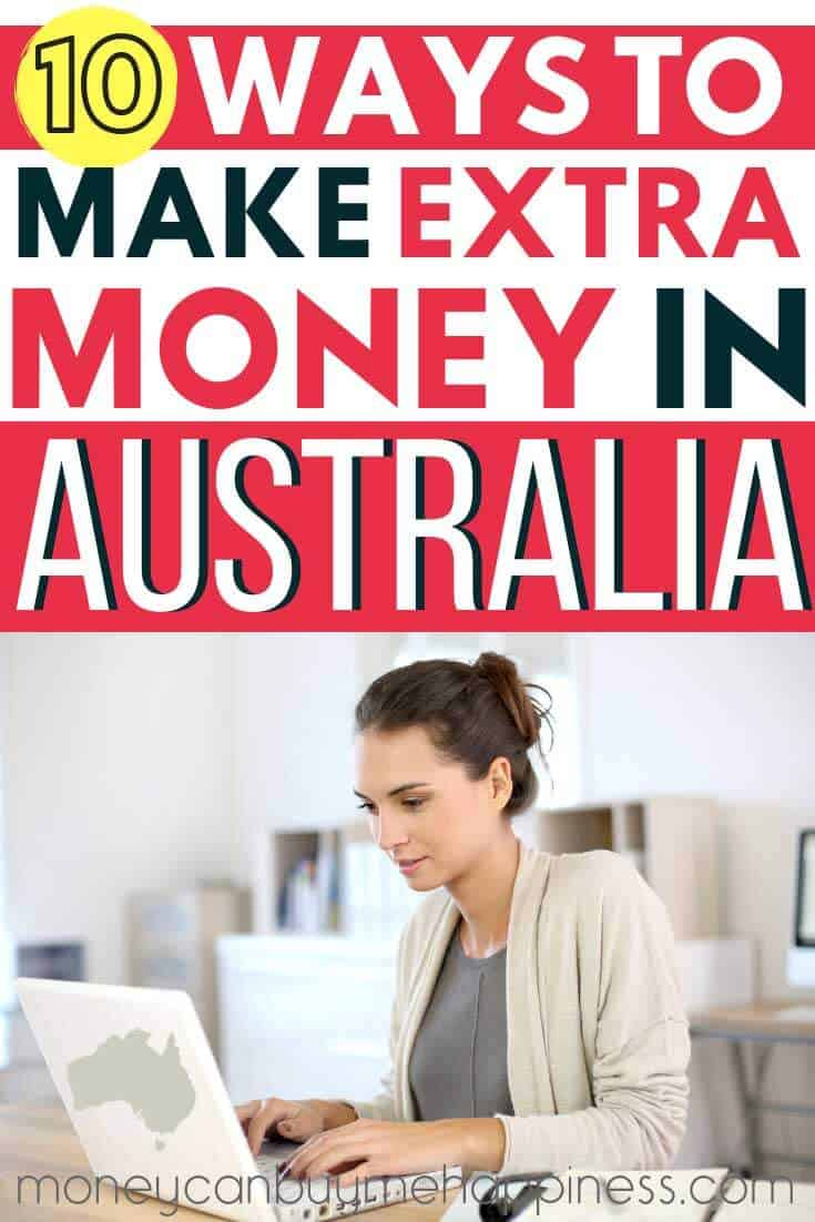 Make extra money in Australia. 10 genuine ways to make money online and offline from the land down under. Includes money making tips for side hustles you can do from home and ideas for earning extra income with side gigs.