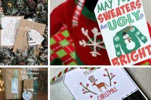 10 Adorable & Free Printable Christmas Gift Tags