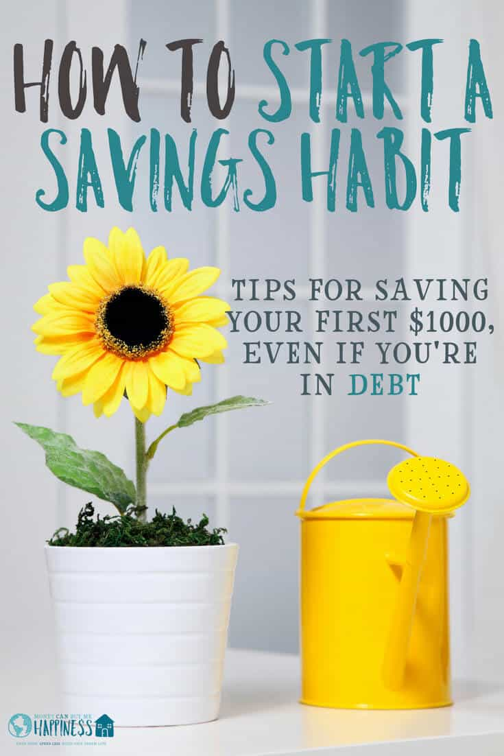 Learn how to start saving money even if you're in debt. These tips will help you to save your first $1000.