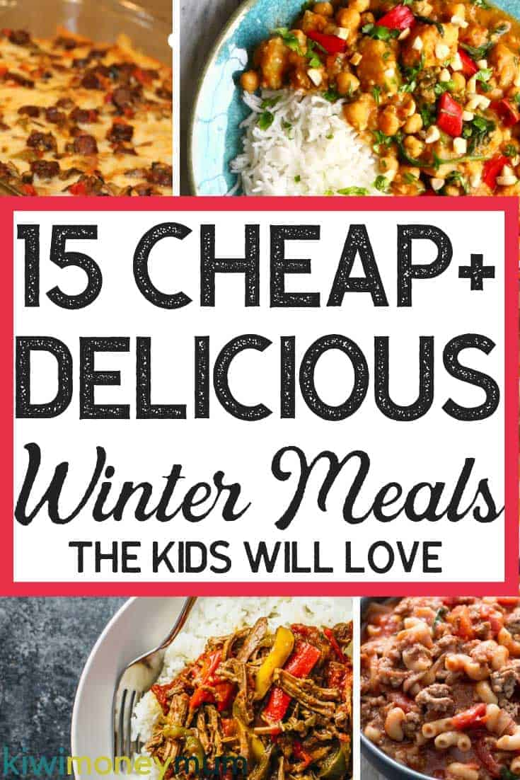 Looking for winter meals on a budget? Check out this list of kid-friendly and budget-friendly winter meals.