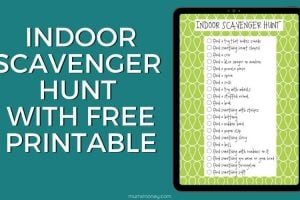 Fun Indoor Scavenger Hunt With Free Printable