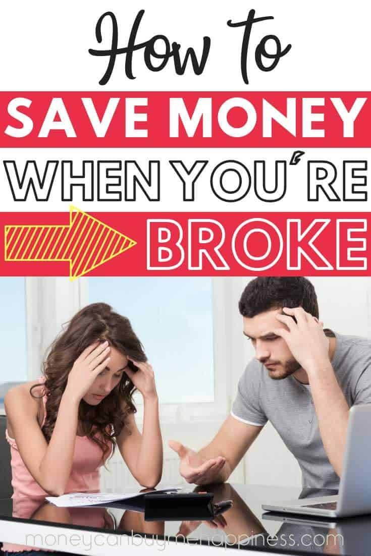 These saving money tips for when you are broke will really help you tighten your belt. Sometimes it's hard to think of ways to save when you're already frugal, these savings tips are exactly what we always do when we are facing financial stress or just need to cut costs quickly.