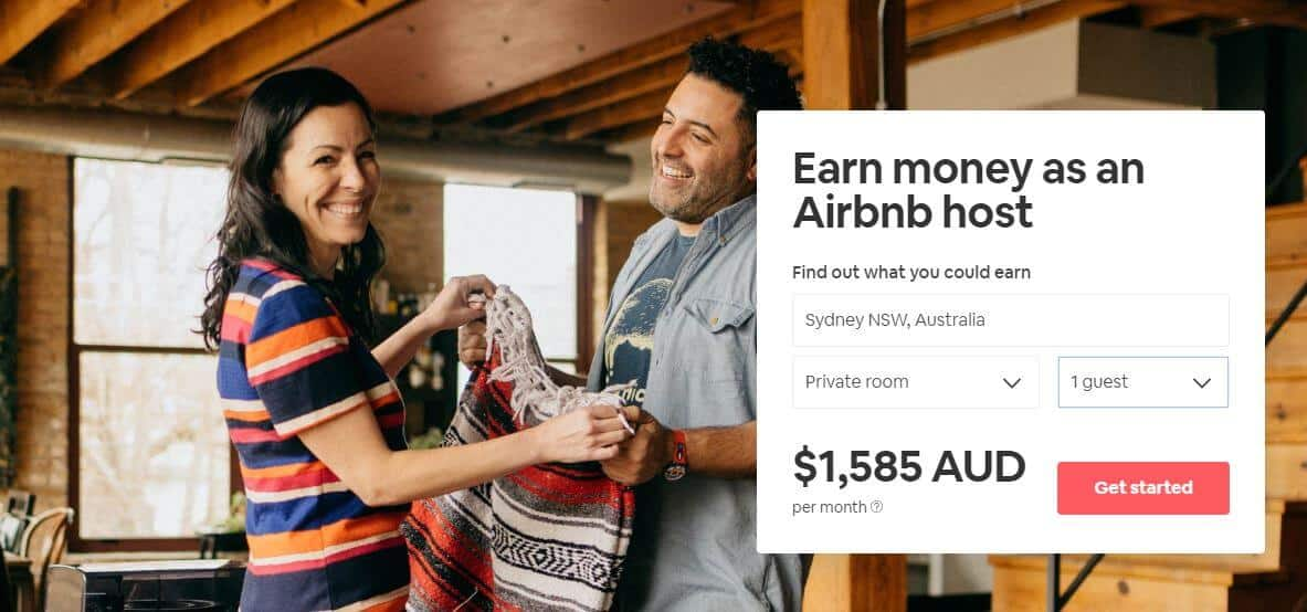 Renting out your spare room on Airbnb is a great side hustle for Australians.
