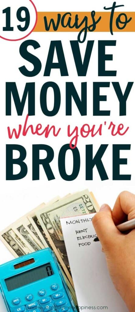 Need tips to save money when you're broke?
